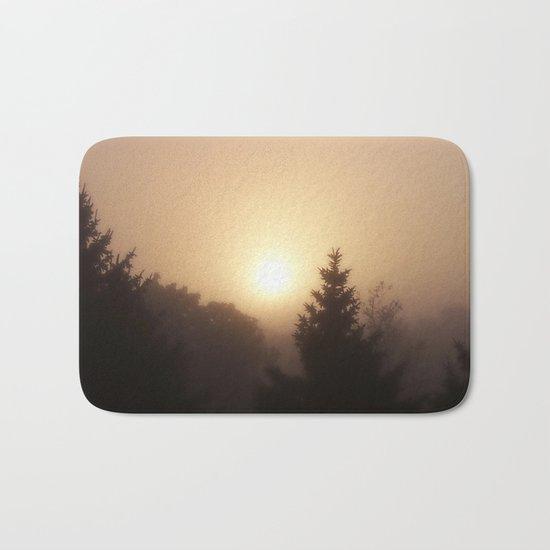 Sunrise Through Morning Fog Bath Mat