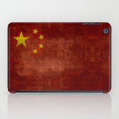 The National flag of the People's Republic of China in Vintage retro distressed texture form iPad Case