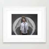 lee pace Framed Art Prints featuring Angel Pace by Andi Robinson