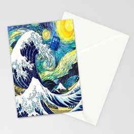Tardis Starry Wave Night Stationery Cards