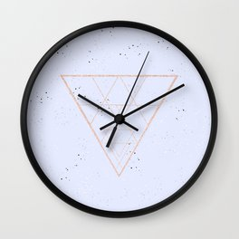 lilac speckled with rose gold triangle Wall Clock