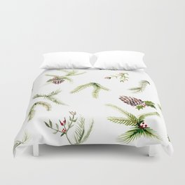 Holiday Plant Extravaganza Duvet Cover