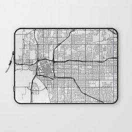Tulsa Map, USA - Black and White Laptop Sleeve