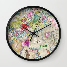 garden on constellations tea Wall Clock