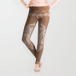 Terracotta boho mandala kilim Leggings