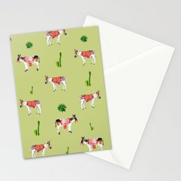 donkeys and cactuses Stationery Cards
