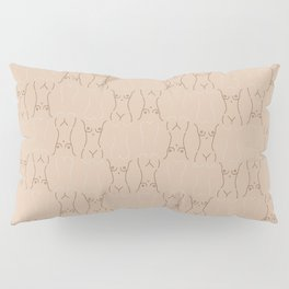 Nude, nudes line drawing/ pattern of female body Pillow Sham