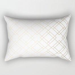 Simply Mod Diamond White Gold Sands on White Rectangular Pillow