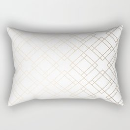 Simply Mod Diamond White Gold Sands on White Rectangular Pillow
