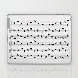 Cute Conceptual Cat Song Music Notation Laptop & iPad Skin