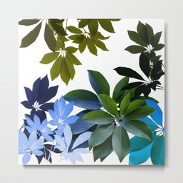 Leaves, Botaical Composition Metal Print