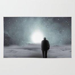 Old Man Walking Towards Heaven Rug