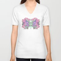 romantic V-neck T-shirts featuring Romantic by Vargamari