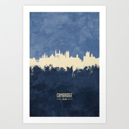 Cambridge England Skyline Art Print