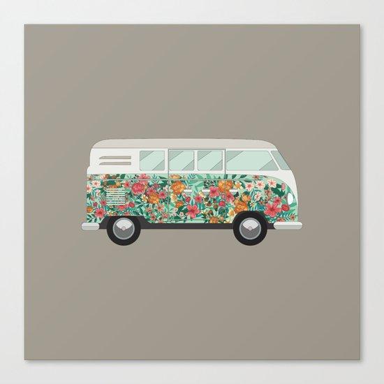 Hippie van Canvas Print