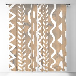 Loose boho chic pattern - neutral Blackout Curtain