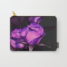 Two neon roses on black Carry-All Pouch