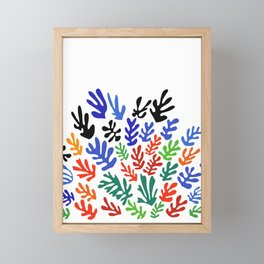 Matisse Floral Pattern #1 Framed Mini Art Print