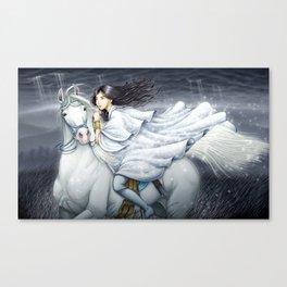 White Rider Canvas Print