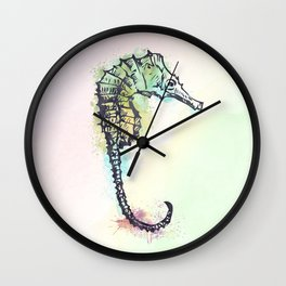 AP100 Watercolor sea horse Wall Clock