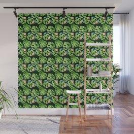 Tropical leaves seamless pattern, exotic monstera jungle print Wall Mural
