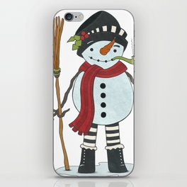 Illustration of Snowman iPhone Skin