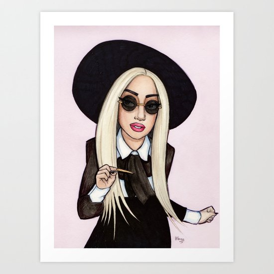 Lady G in NYC Art Print