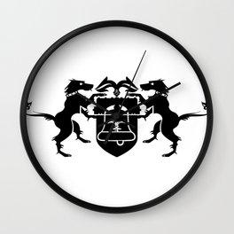 coat of arms - black Wall Clock