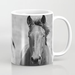 Extremely Photogenic Horse B&W Coffee Mug