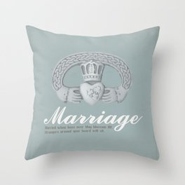 May Marriage Throw Pillow