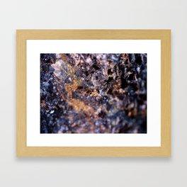 Gold & Blue Rock Framed Art Print