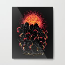 Cactus Sunset Metal Print