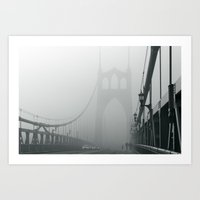 marc johns Art Prints featuring Grey St. Johns by Cameron Booth