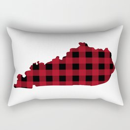 Kentucky - Buffalo Plaid Rectangular Pillow