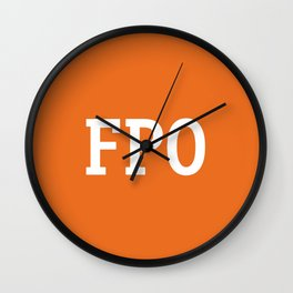 For Placement Only - FPO - Artwork (Etsy Orange) Wall Clock