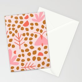 retro moth Stationery Cards