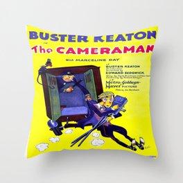 Vintage poster - The Cameraman Throw Pillow