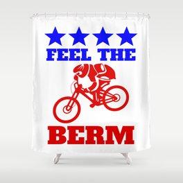 Bernie Sanders Mountain Bike Shower Curtain