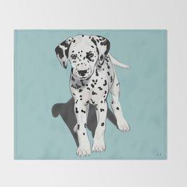Dalmatian Puppy Throw Blanket