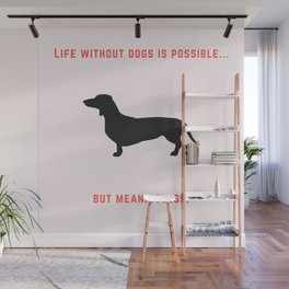 Dachshund - I love my dog Wall Mural