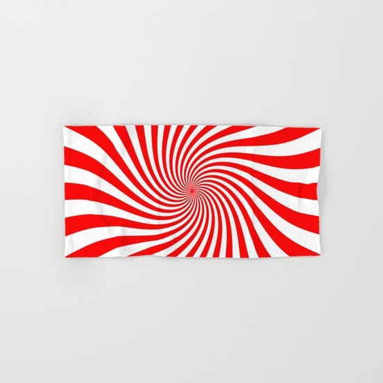 Swirl (Red/White) Hand & Bath Towel