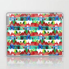 Watercolor houses Laptop & iPad Skin
