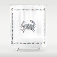 crab Shower Curtains featuring Crab by loverocksme