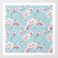 magnolia Art Prints featuring Magnolia by EclipseLio