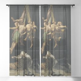 Witches' Flight Francisco Goya Sheer Curtain