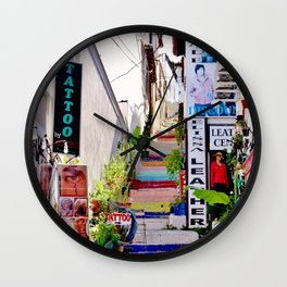 Colorful Stairs Wall Clock