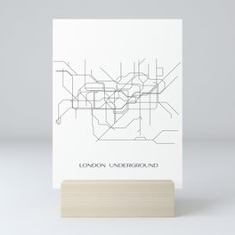 London Underground Line Drawing Mini Art Print