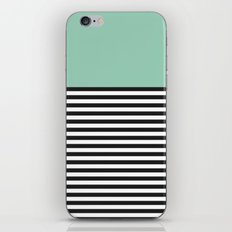 STRIPE COLORBLOCK {MUTED JADE} iPhone & iPod Skin