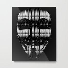 Anonymous Print Metal Print