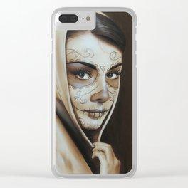 'Hepburn De Los Muertos' Clear iPhone Case